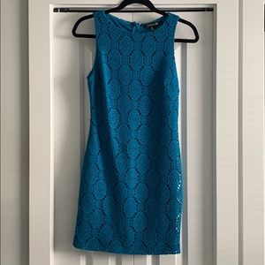 Blue Crochet Dress